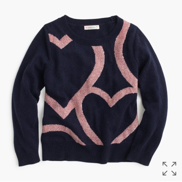 Crewcuts Abstract Heart Popover Sweater